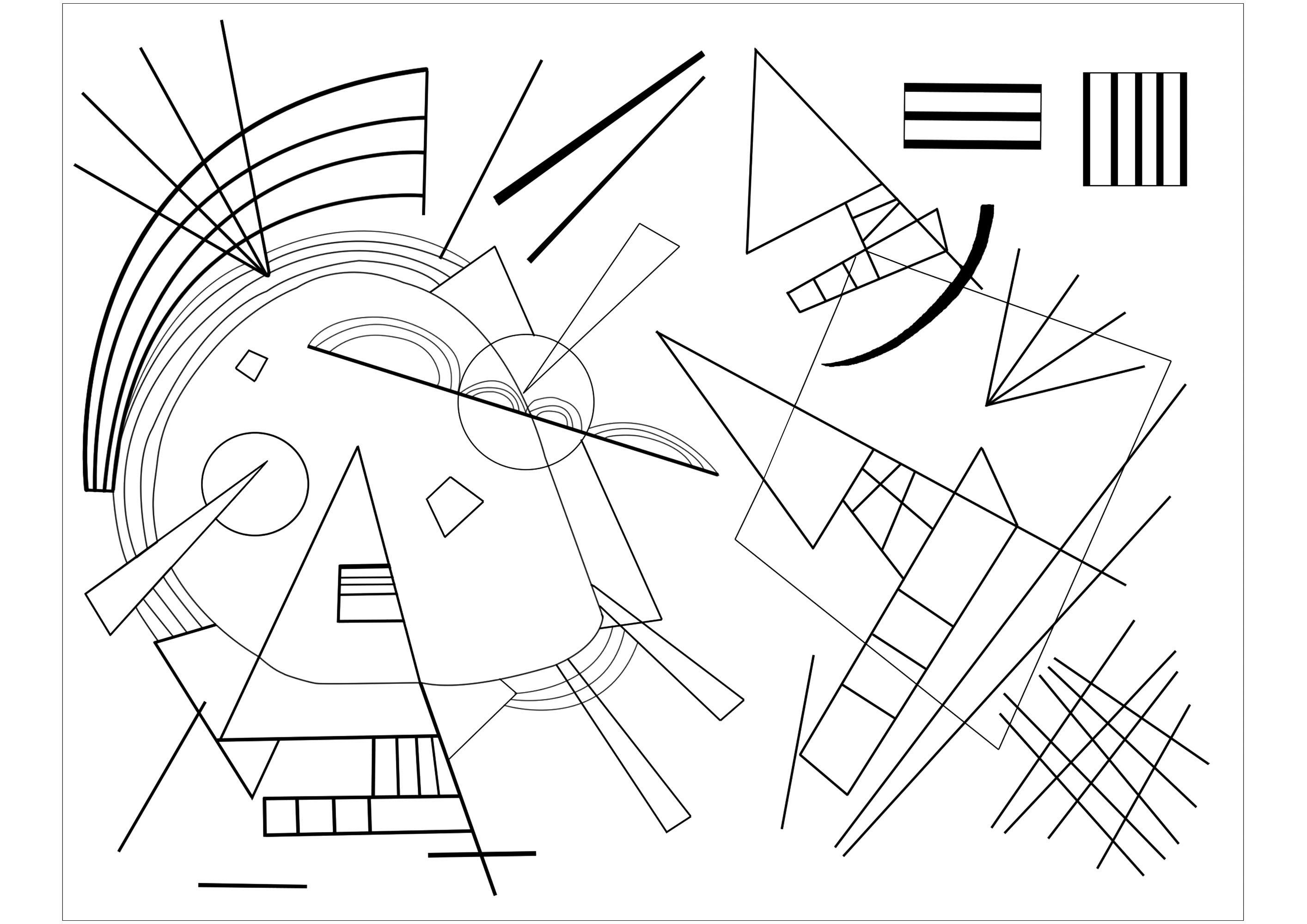 Malbuch Fur Erwachsene : Kunstwerk - 1 - Dieses Bild enthält : Vassily Kandinsky