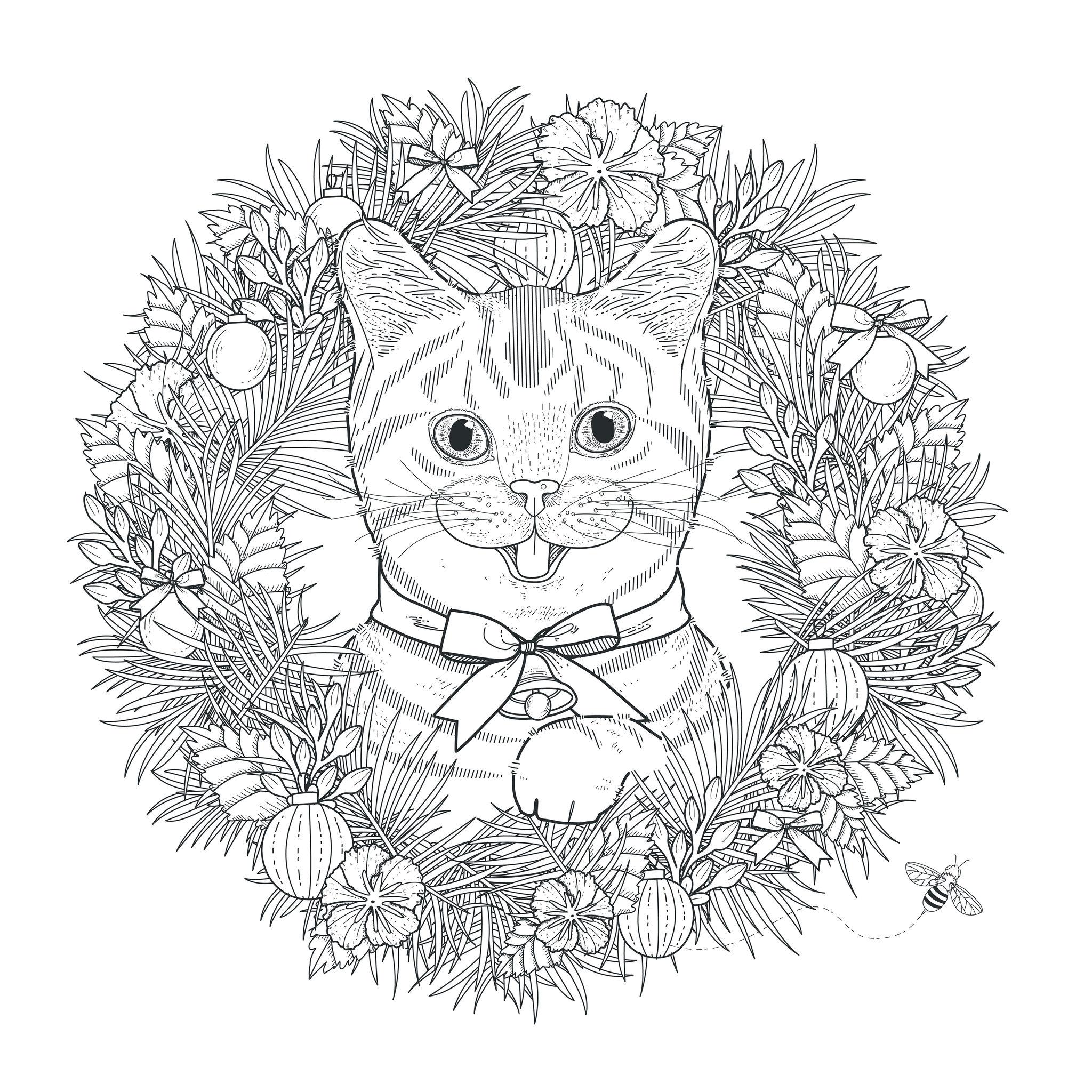 Katzen - Malbuch Fur Erwachsene