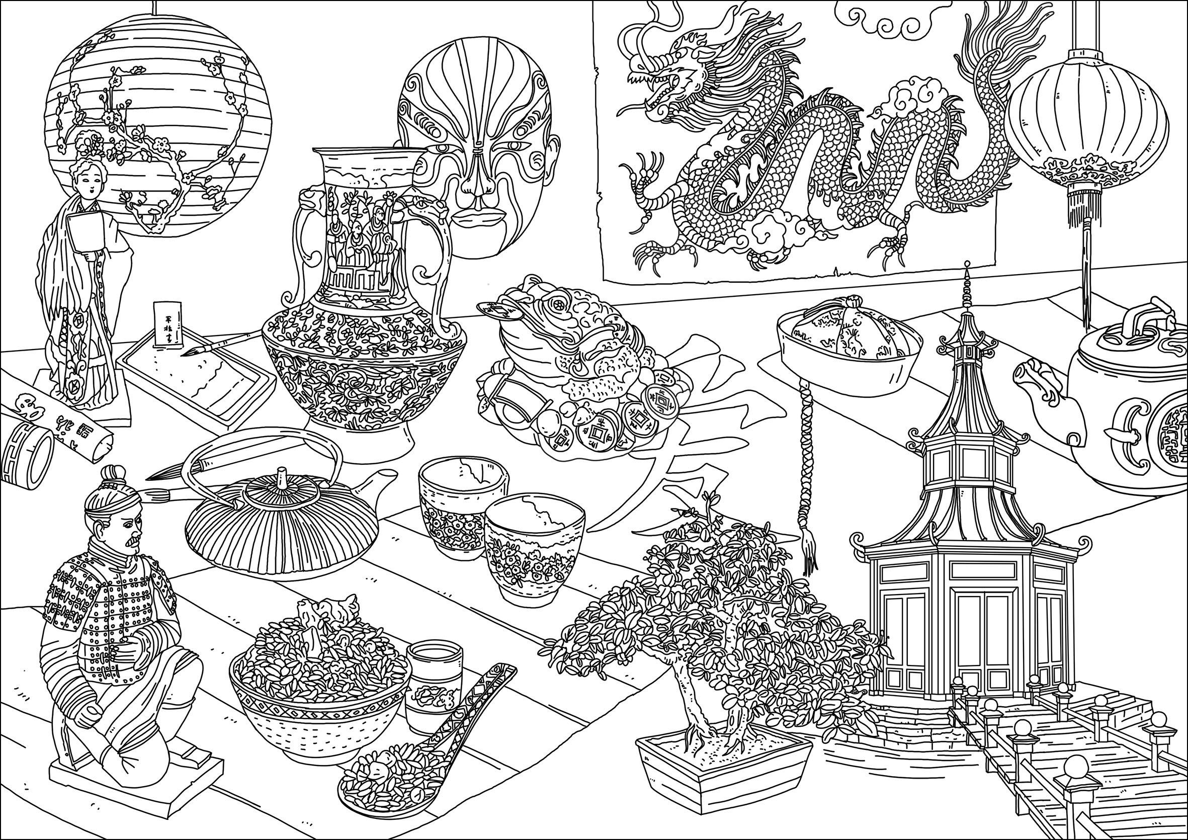 china und asien 83894 - china und asien - malbuch fur