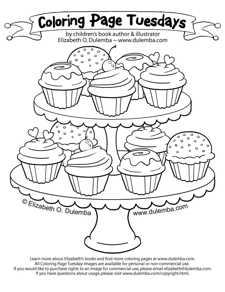 Malbuch Fur Erwachsene : Cupcakes - 12