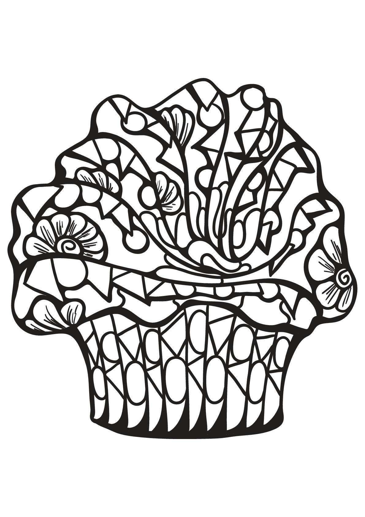 Malbuch Fur Erwachsene : Cupcakes - 41