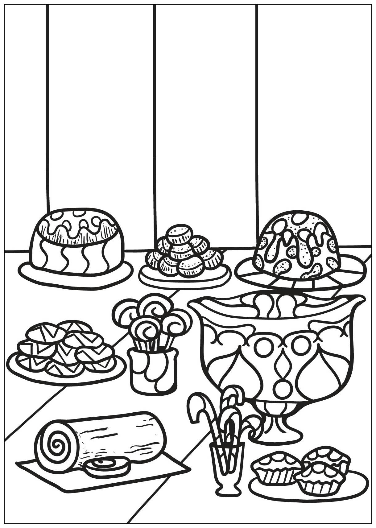 Malbuch Fur Erwachsene : Cupcakes - 32