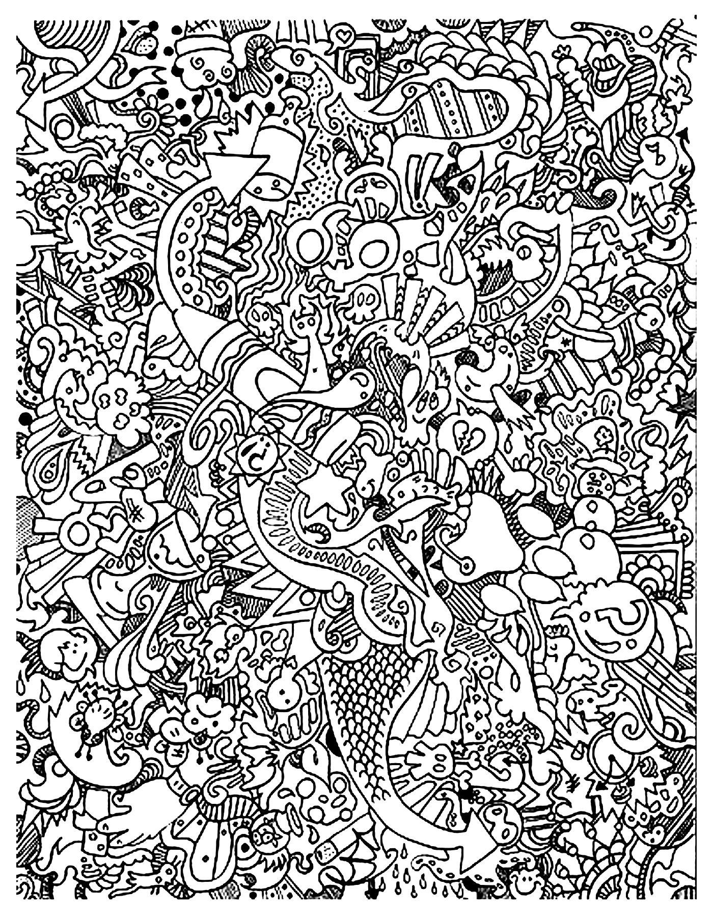 Gekritzelkunst gekritzel 54164 - Doodle art / Doodling ...