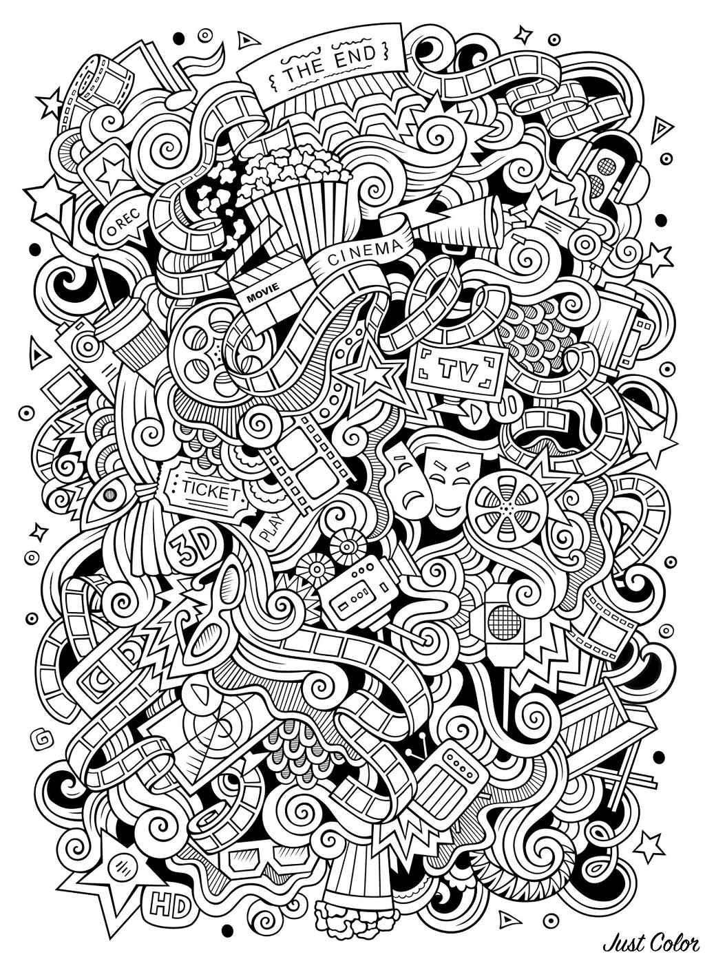 Malbuch Fur Erwachsene : Doodle art / Doodling - 1