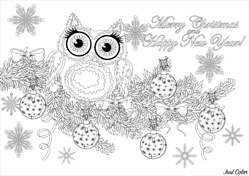 Malbuch Fur Erwachsene : Weihnachten - 6