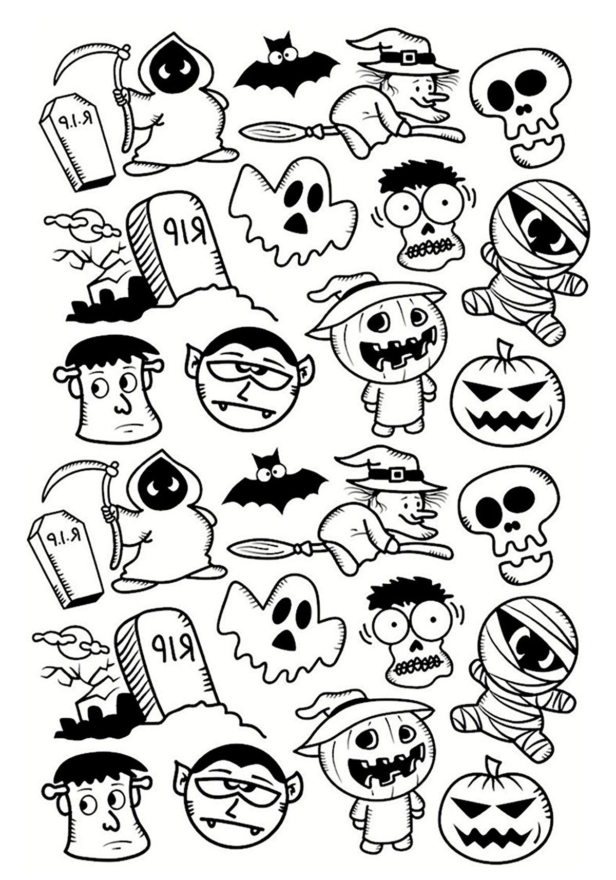 Halloween Ausmalbilder Totenkopf : Niedlich Halloween Malvorlagen F R Erwachsene Ideen Framing