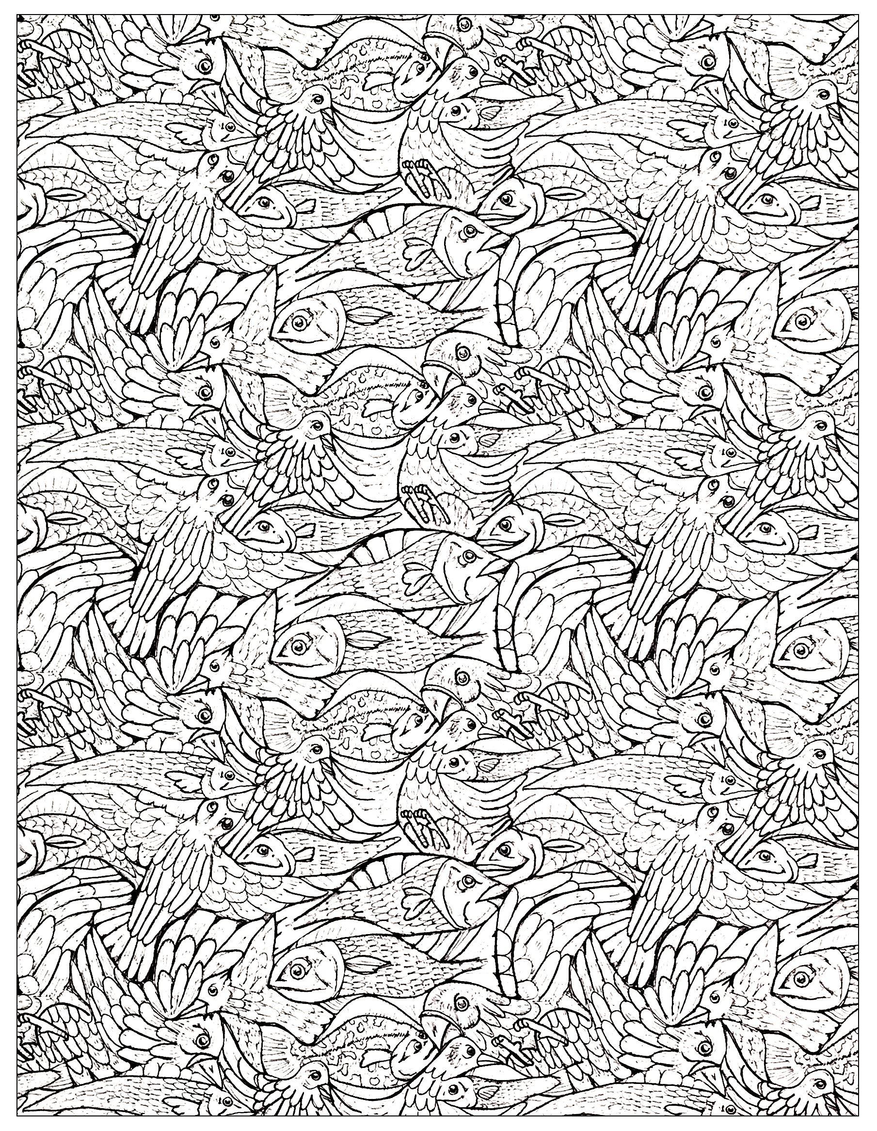 Malbuch Fur Erwachsene  : Fische - 8