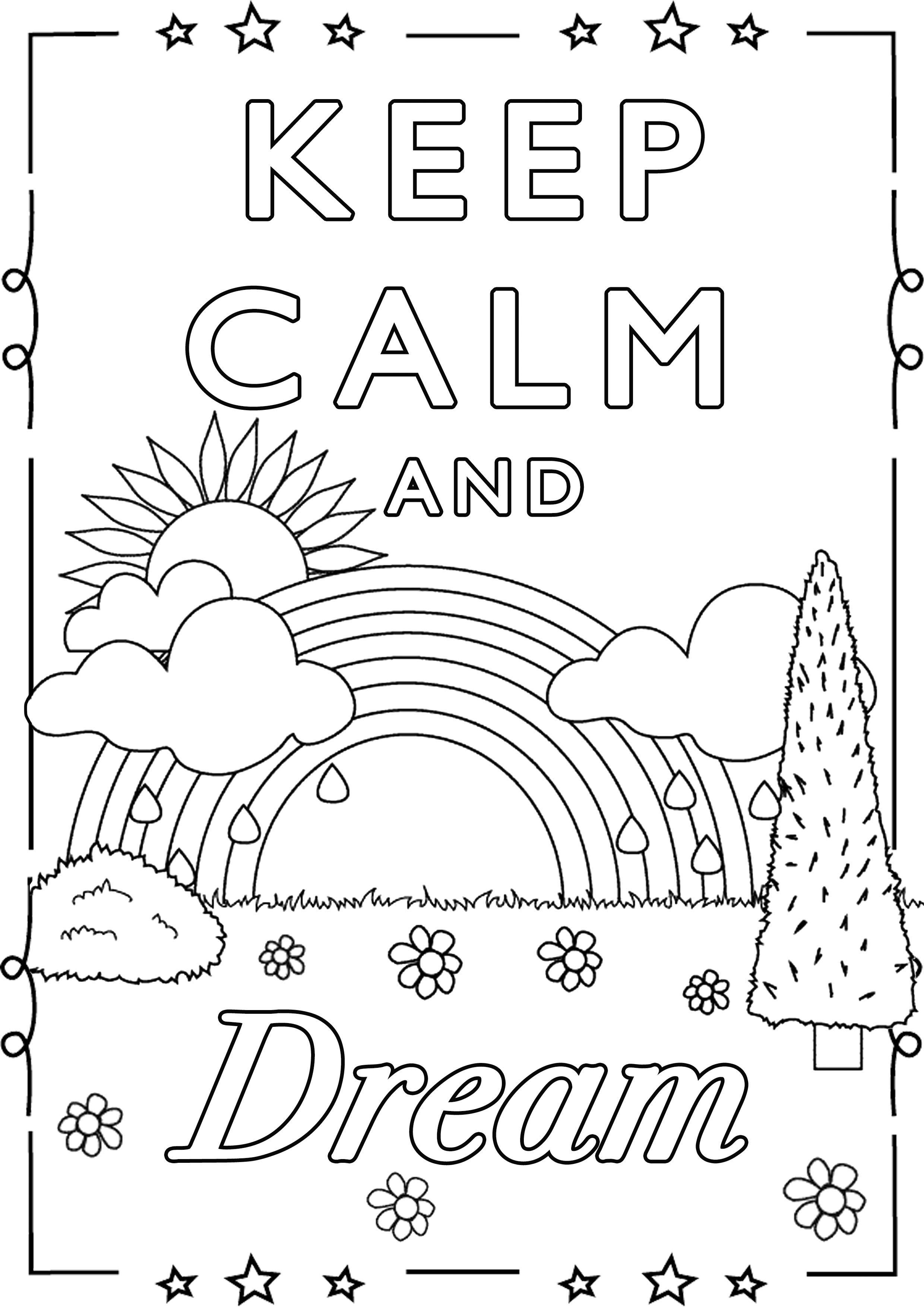 Malbuch Fur Erwachsene : Keep Calm - 3