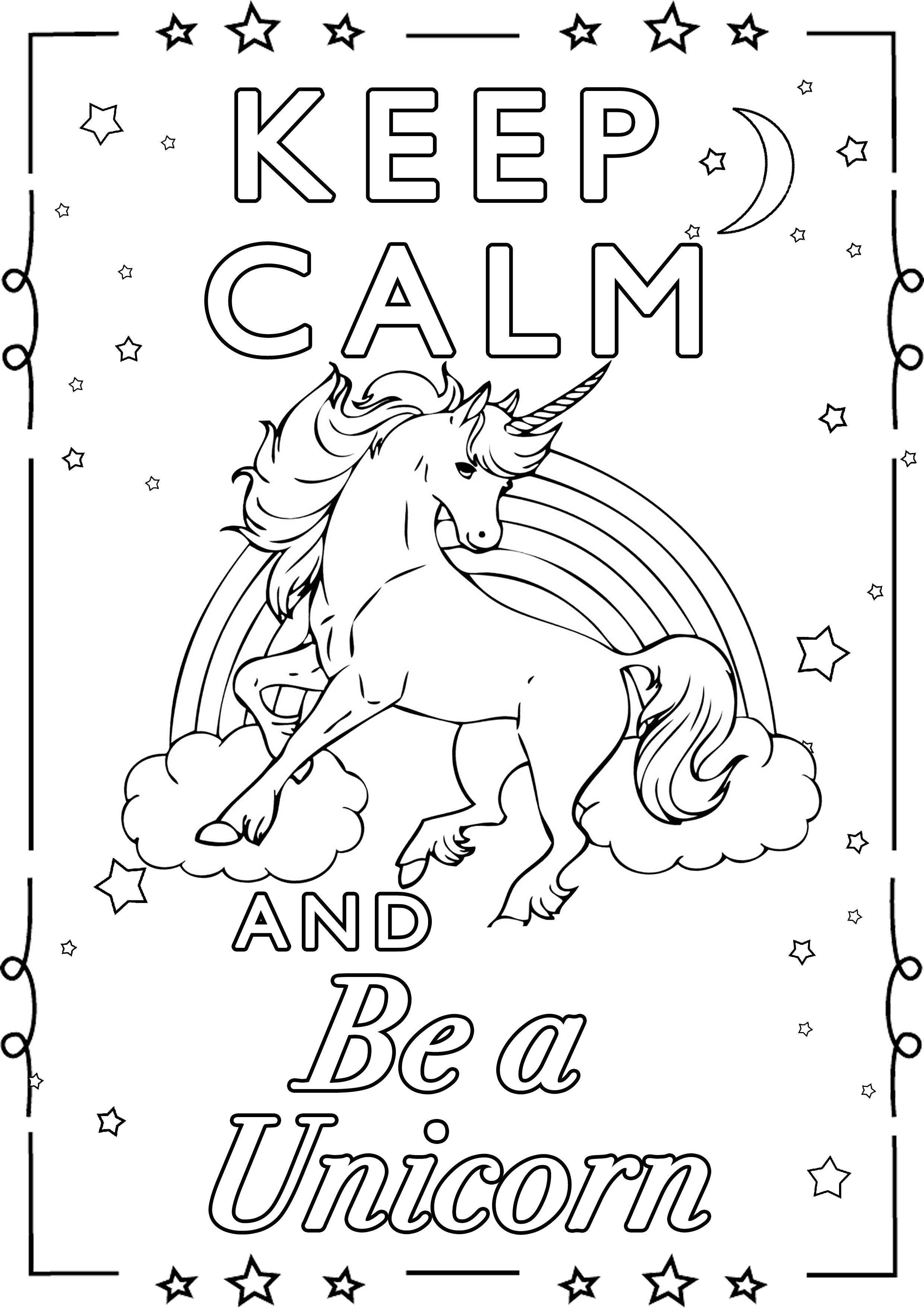 Malbuch Fur Erwachsene : Keep Calm - 1