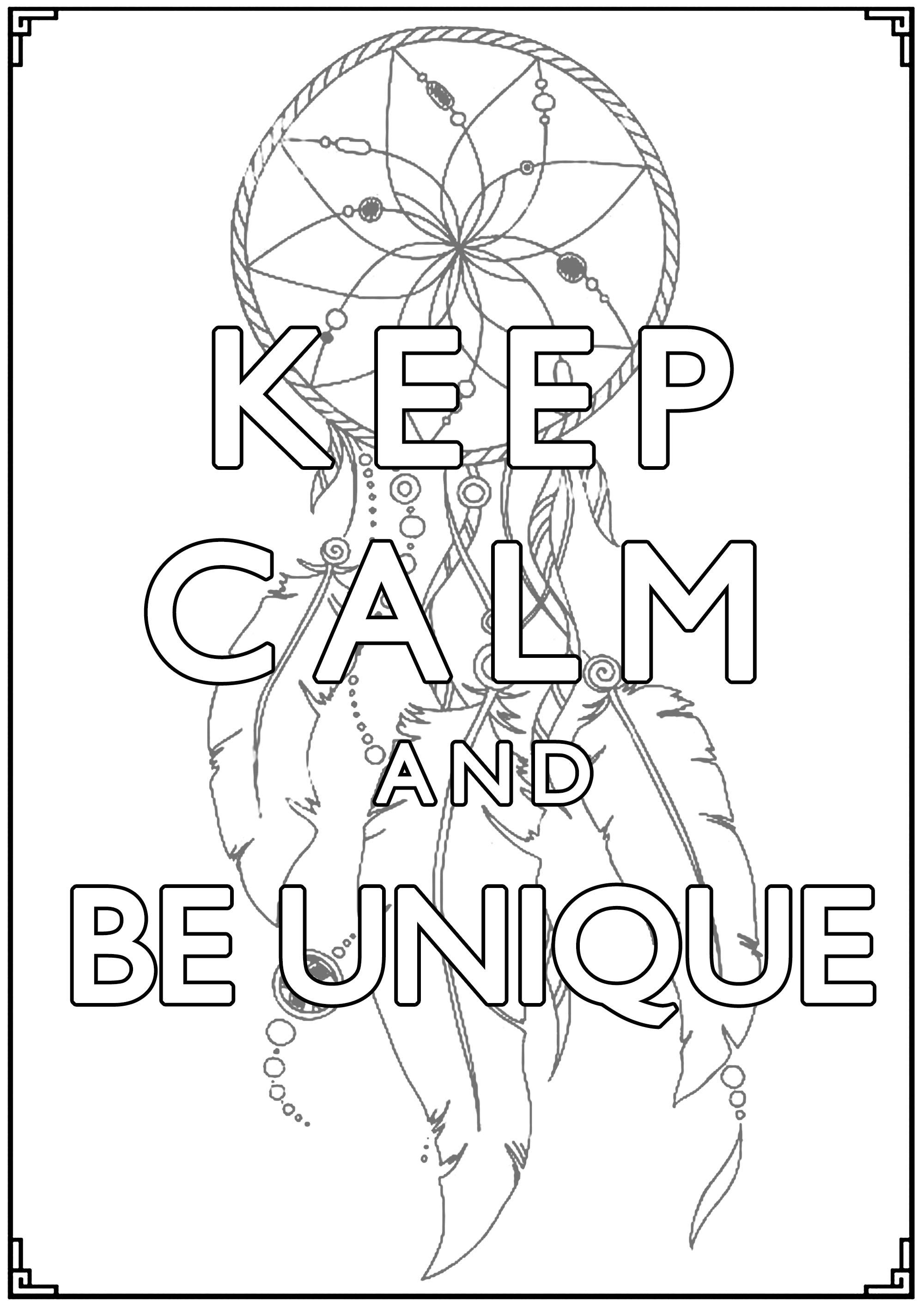 Malbuch Fur Erwachsene : Keep Calm - 6