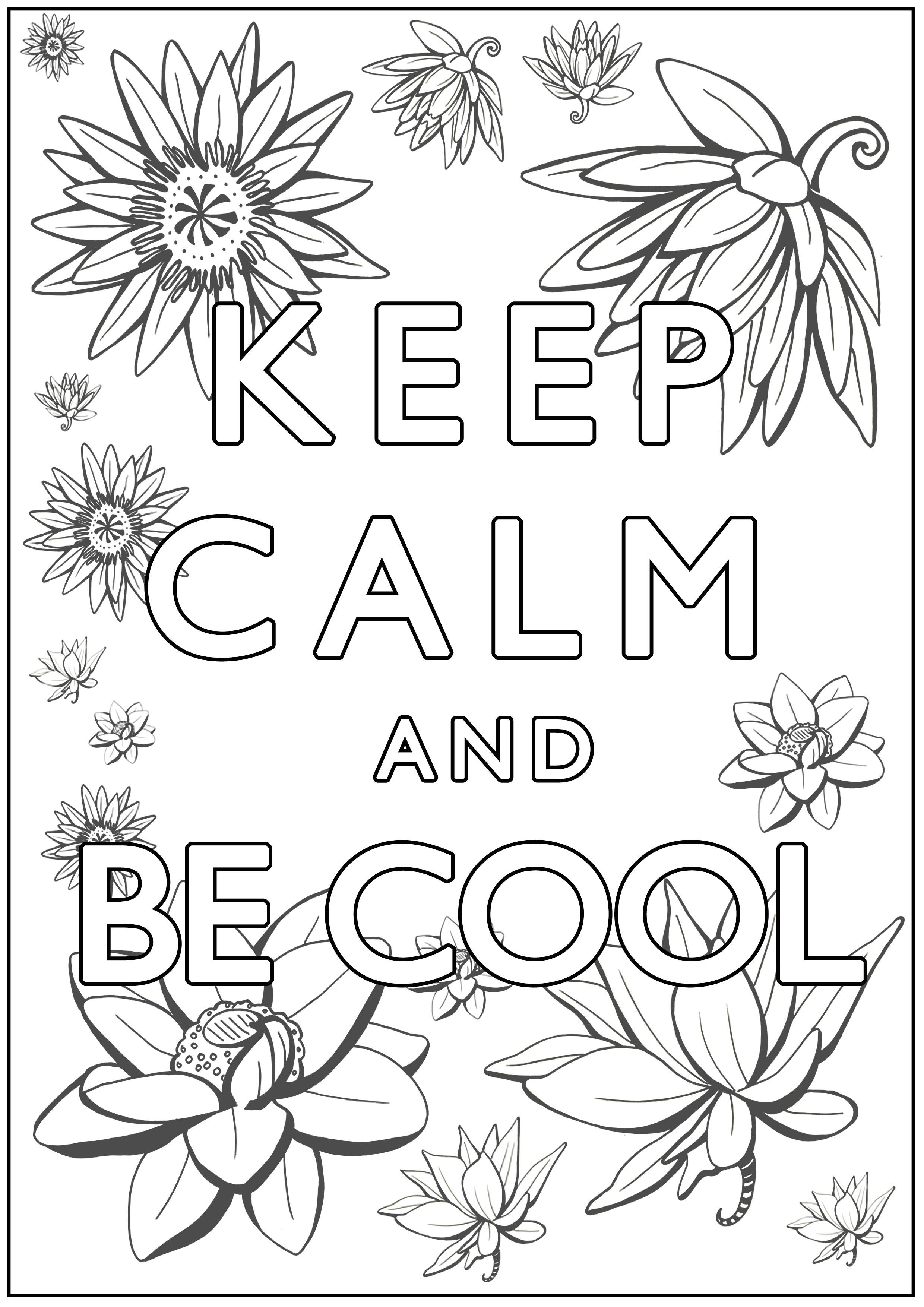 Malbuch Fur Erwachsene : Keep Calm - 5