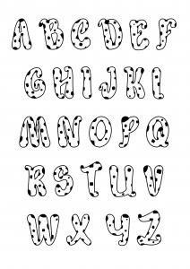 Alphabet 45560