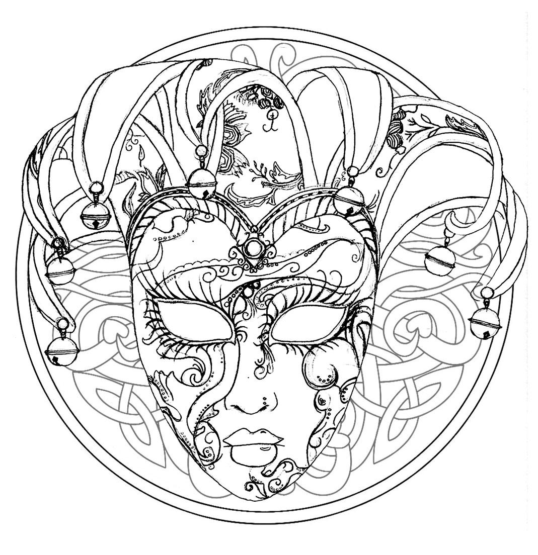 Malbuch Fur Erwachsene  : Mandalas - 140 - Dieses Bild enthält : Maske