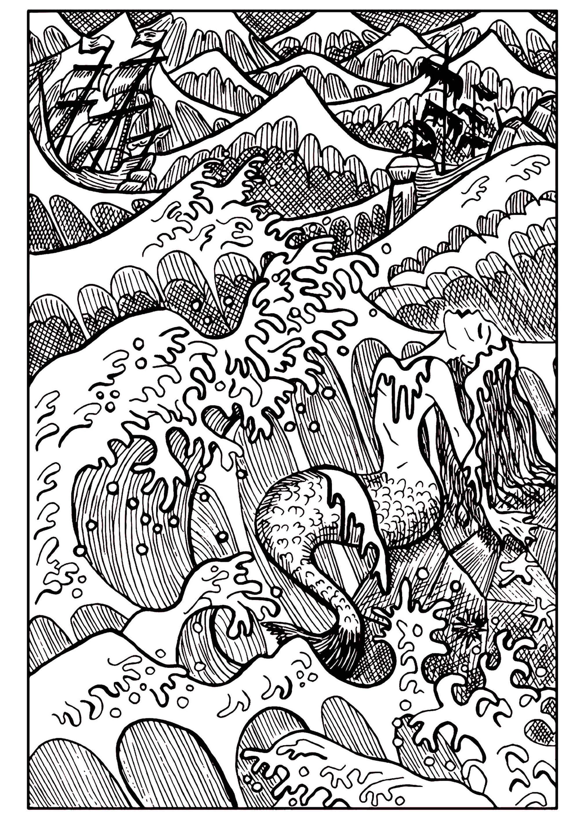 Meerjungfrauen 76883 - Meerjungfrauen - Malbuch Fur Erwachsene
