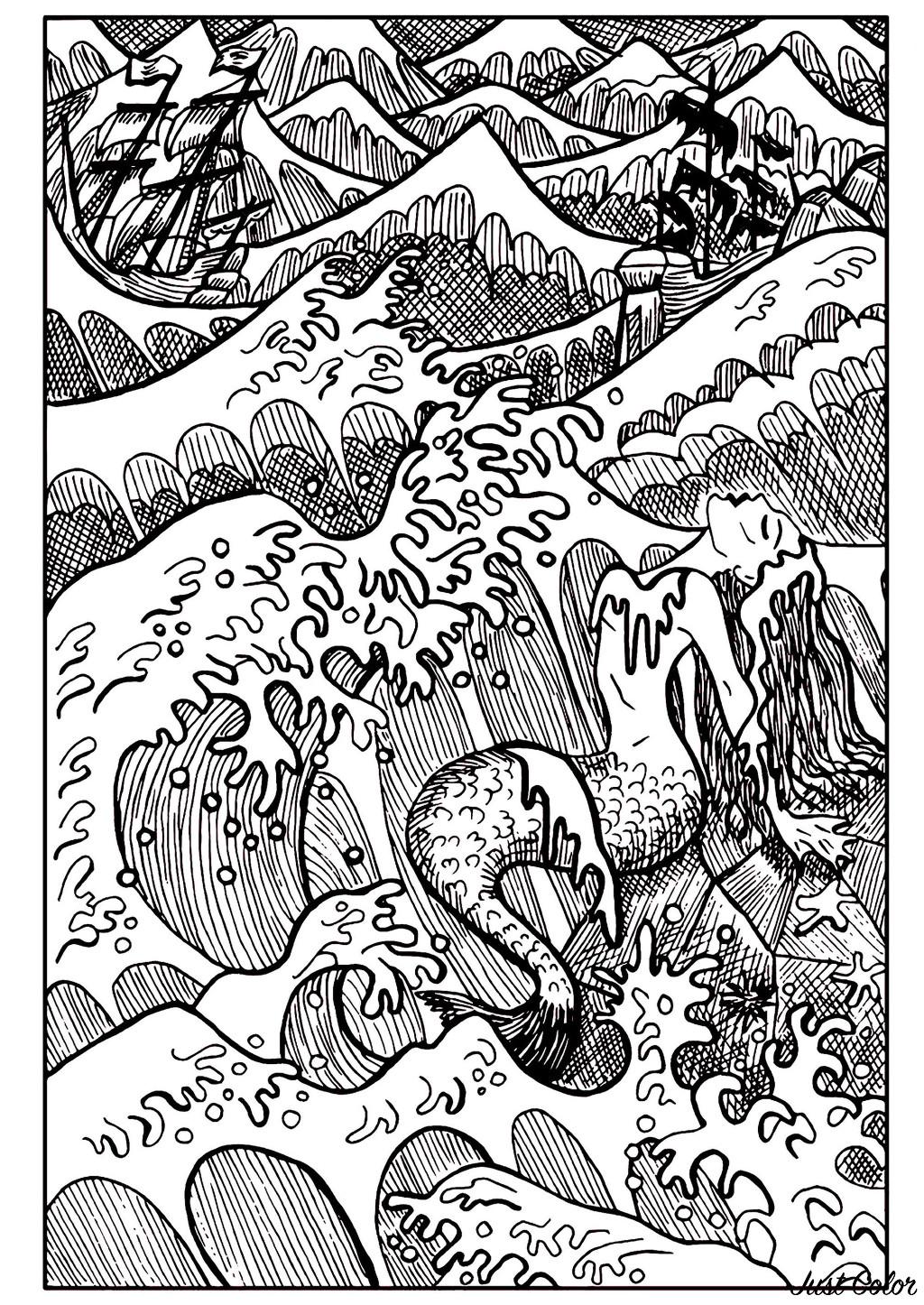 Malbuch Fur Erwachsene  : Meerjungfrauen - 2