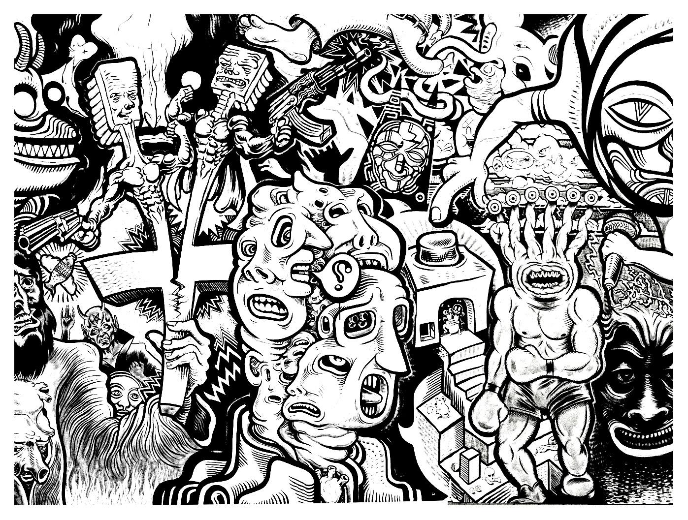 Graffiti strassenkunst 75469 - Graffiti / Straßenkunst - Malbuch Fur ...