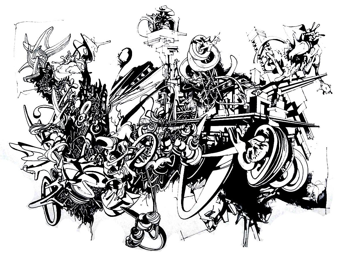 Graffiti strassenkunst 9703 | Graffiti / Straßenkunst - Malbuch Fur ...