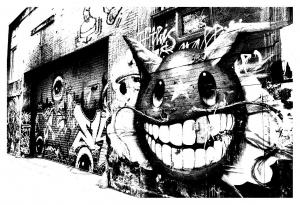Graffiti strassenkunst 62384