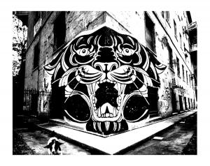 Graffiti strassenkunst 72670