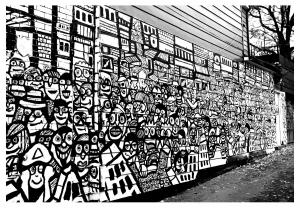 Graffiti strassenkunst 9038