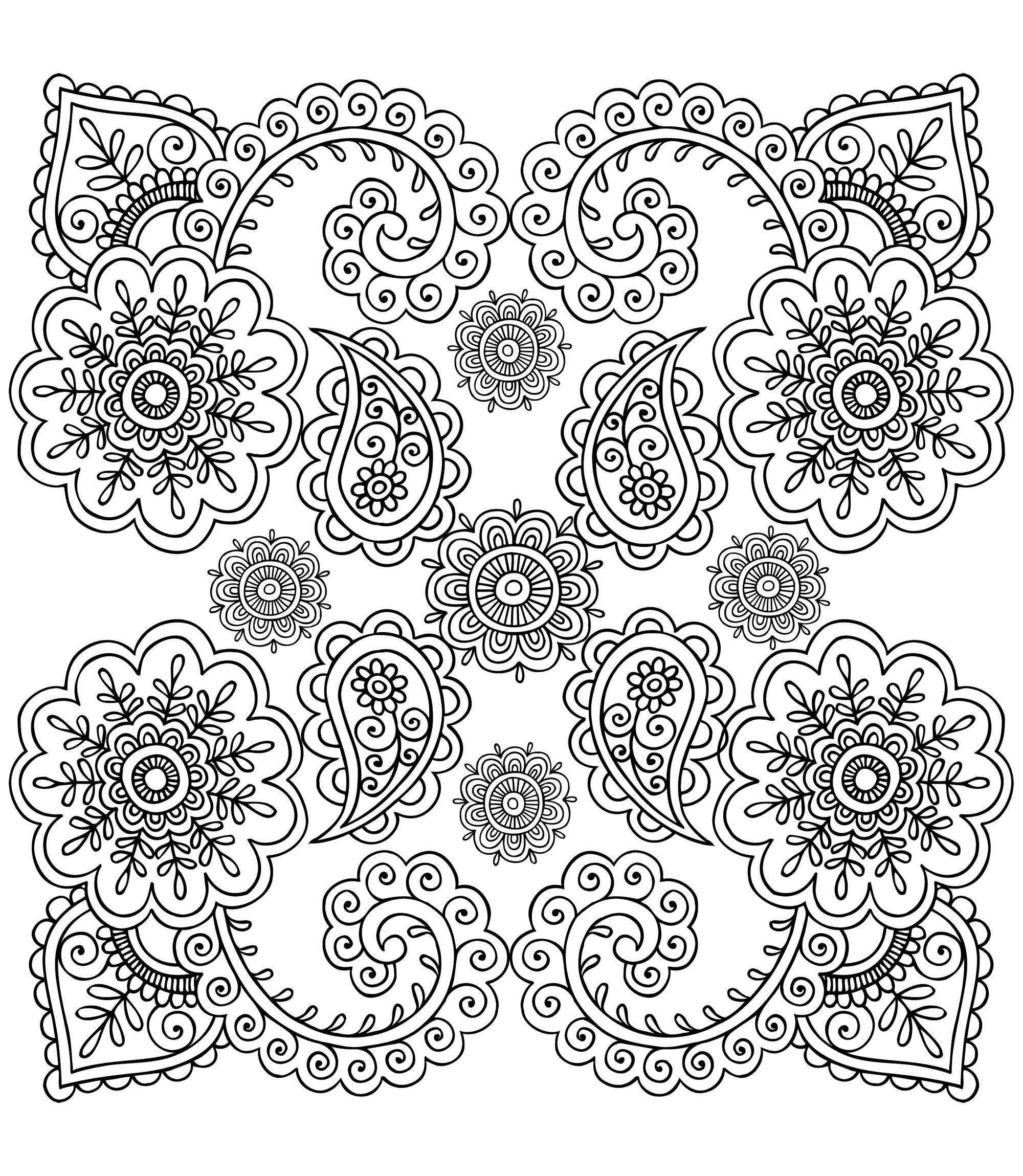 Colorear para adultos : Anti-stress / Zen - 35