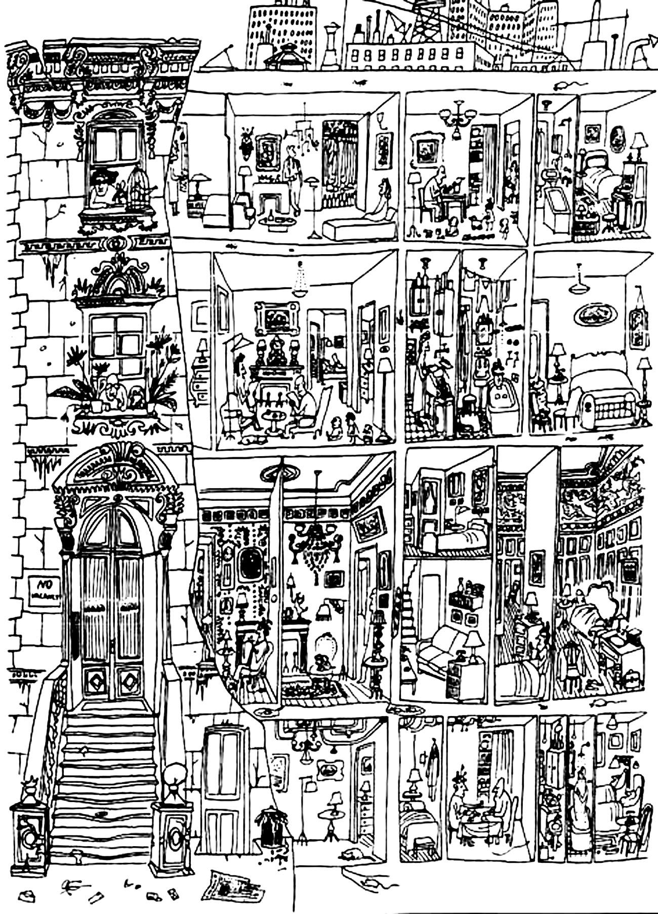 Colorear para adultos : Architecture & home - 22