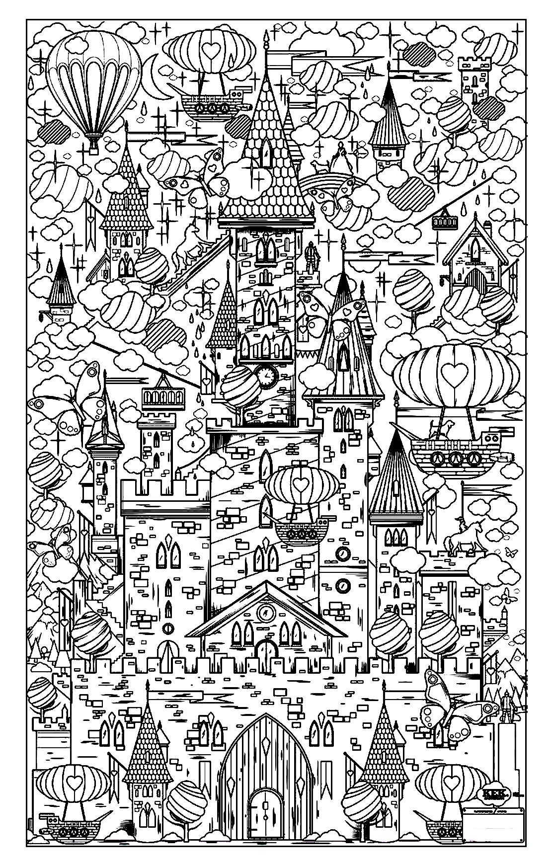 Colorear para adultos : Architecture & home - 16