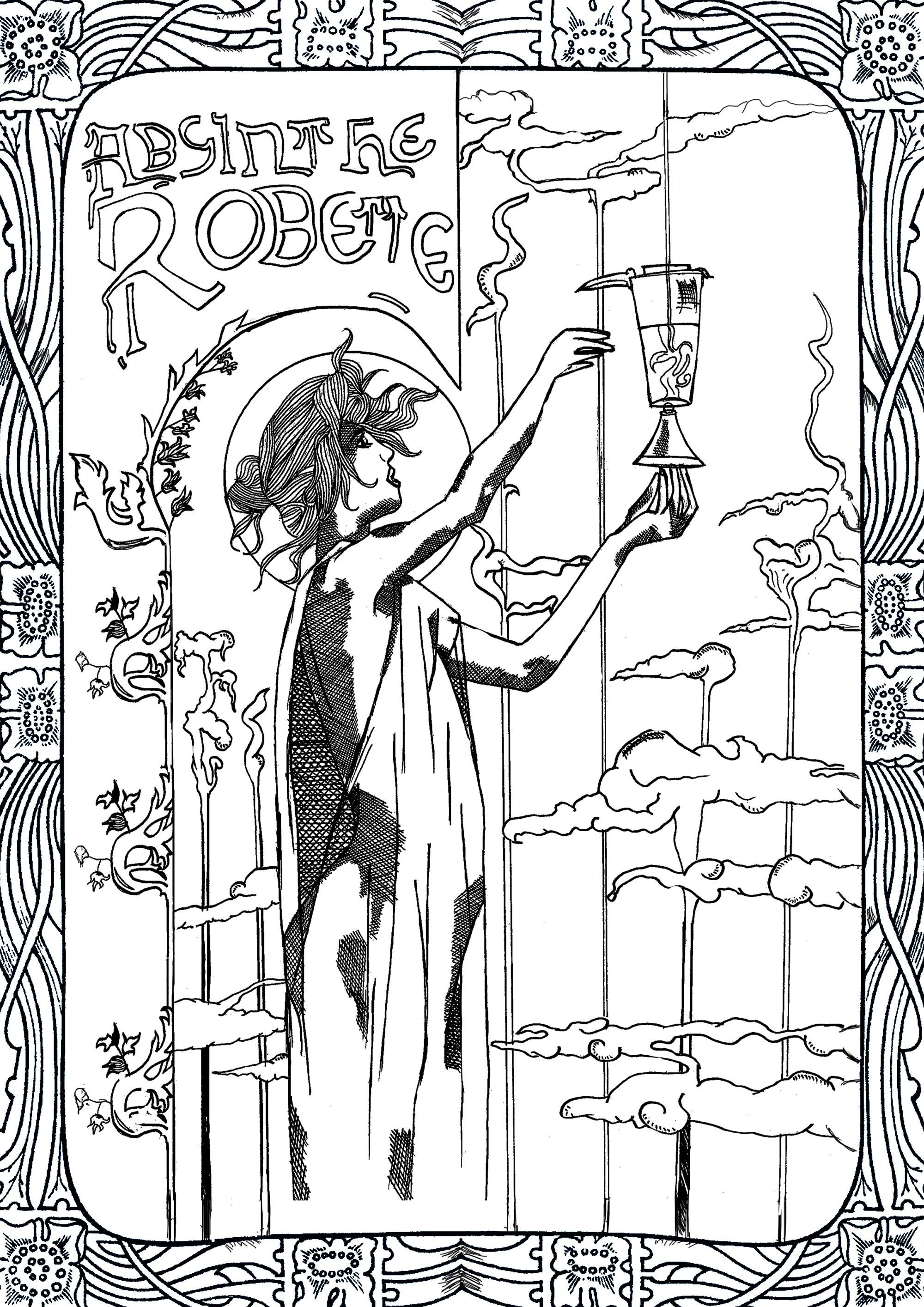 Colorear para adultos : Art nouveau - 30