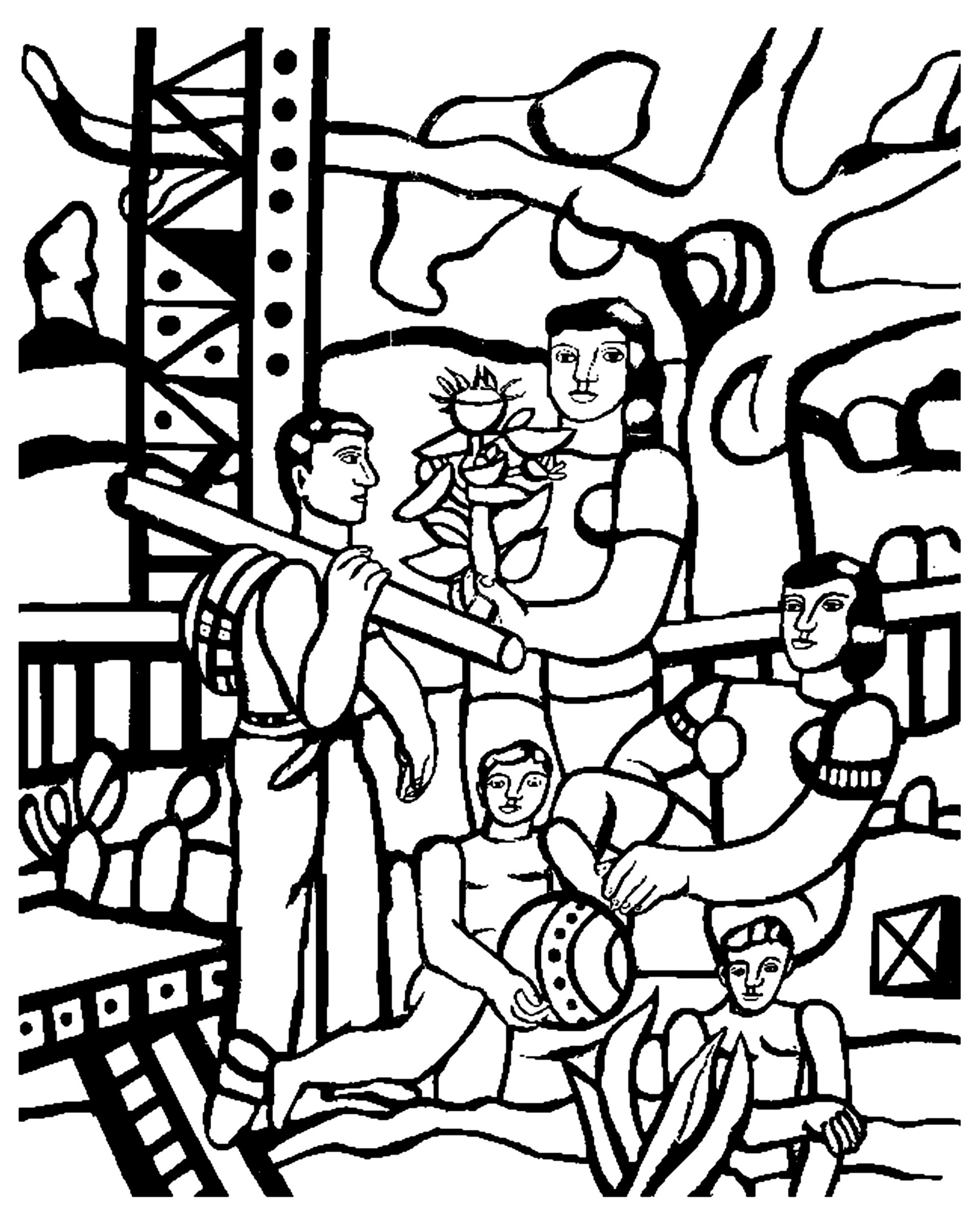 Colorear para adultos  : Obra de arte - 58