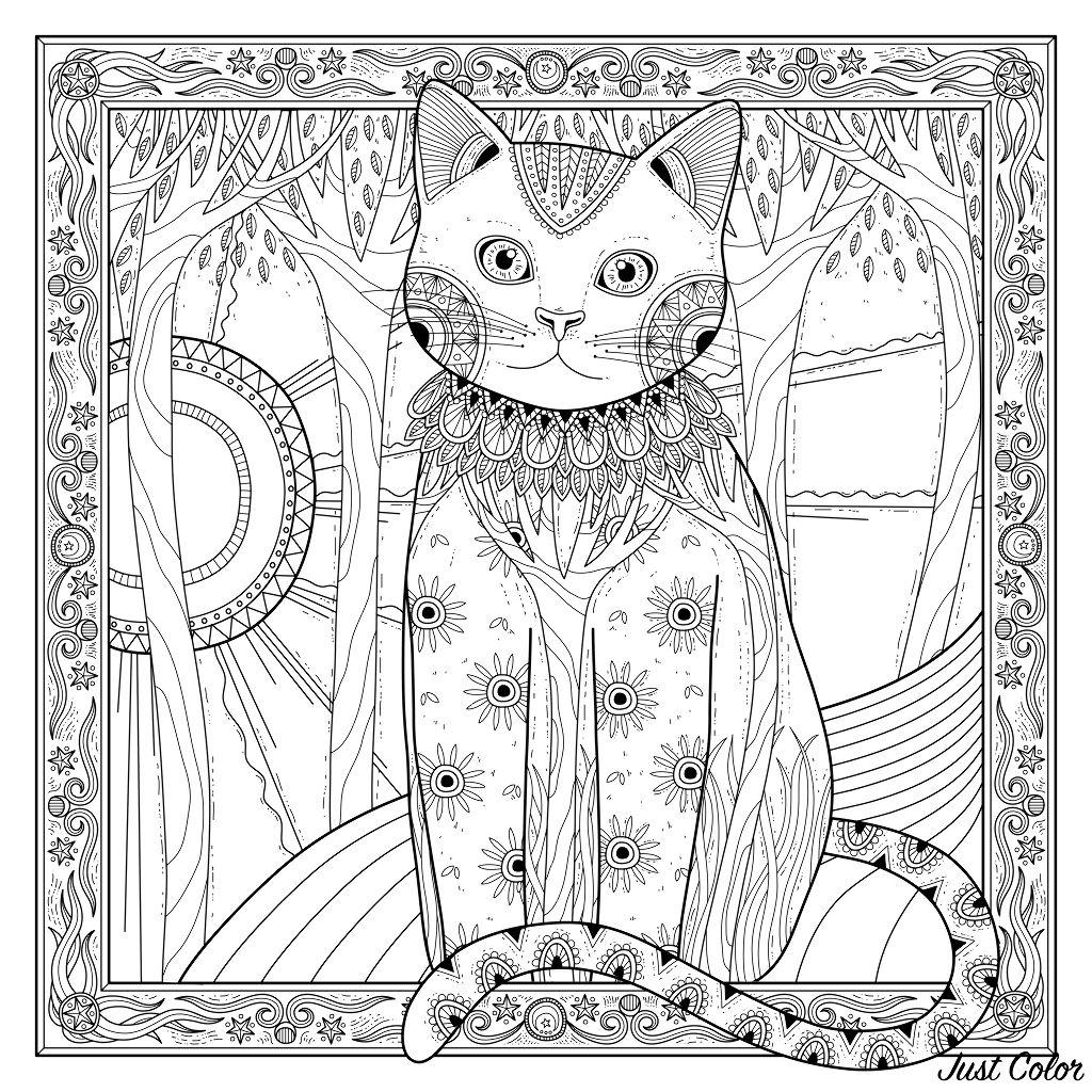 Colorear para adultos  : Gatos - 2