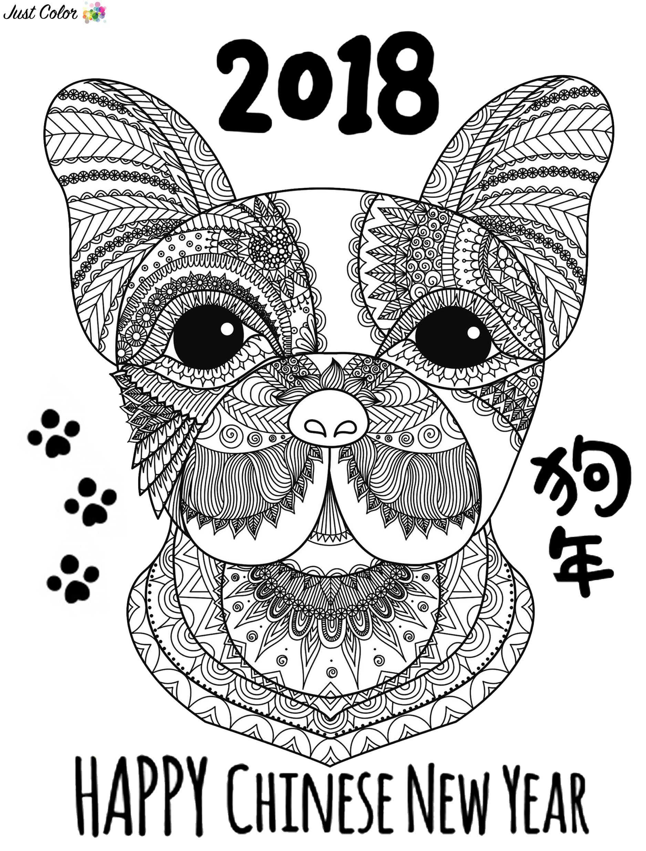 Ano nuevo chino 9666 - Año Nuevo Chino - Colorear para Adultos