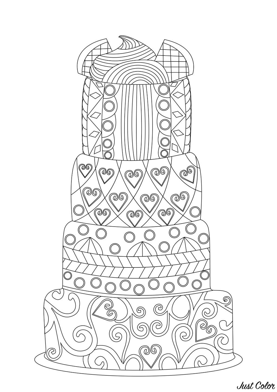 Colorear para Adultos : Cup Cakes - 2