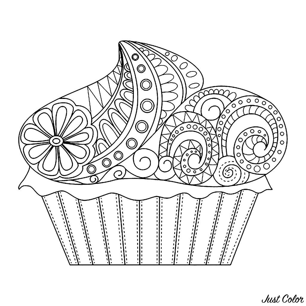 Colorear para Adultos : Cup Cakes - 7