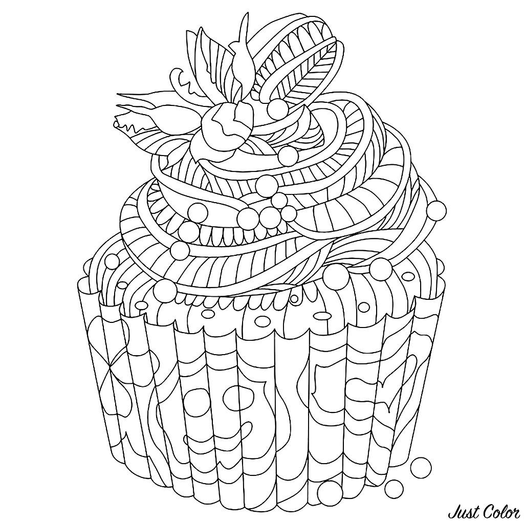 Colorear para Adultos : Cup Cakes - 8