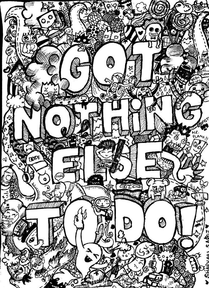 Colorear para adultos : Doodle art / Doodling - 54