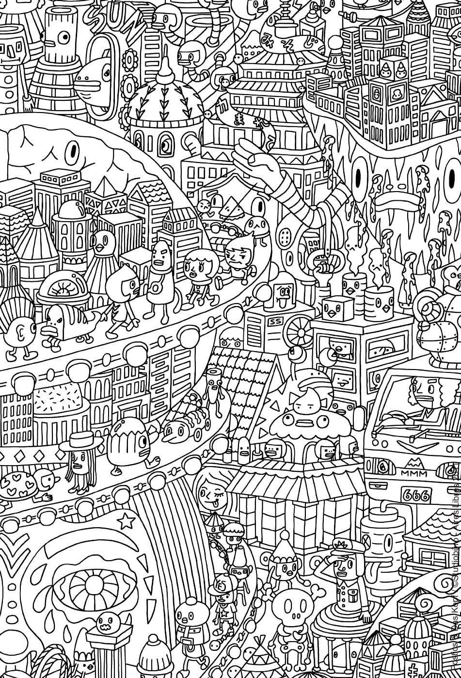 Colorear para adultos : Doodle art / Doodling - 11