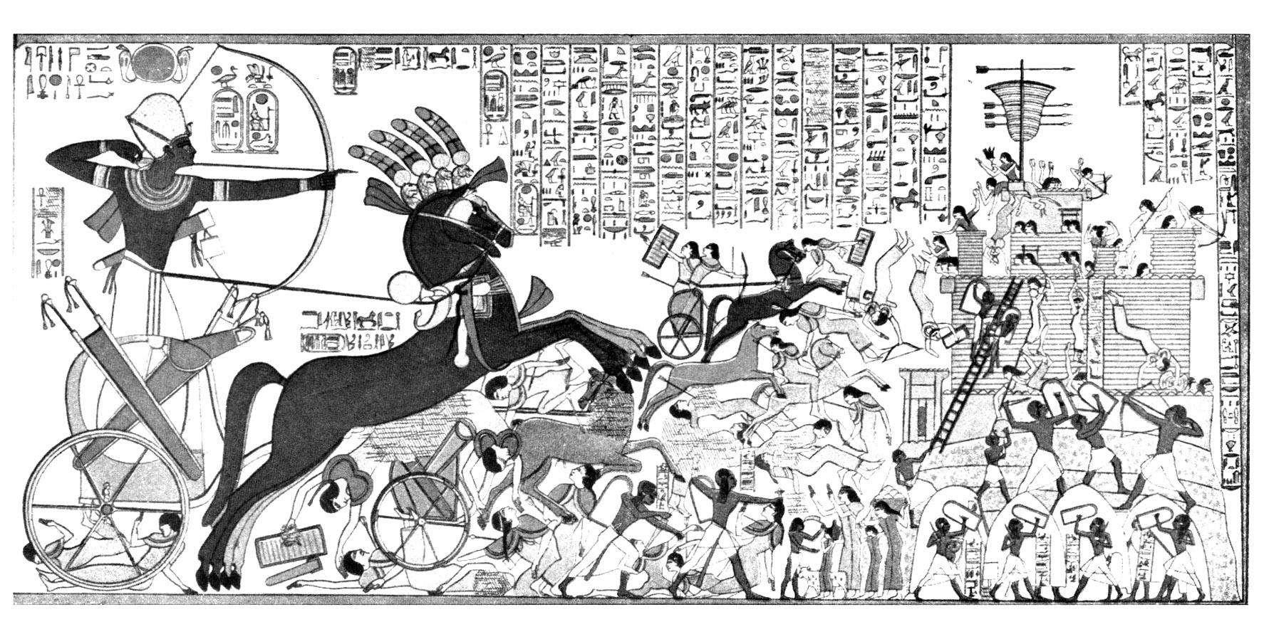 Colorear para adultos : Egipto y Jeroglíficos - 8