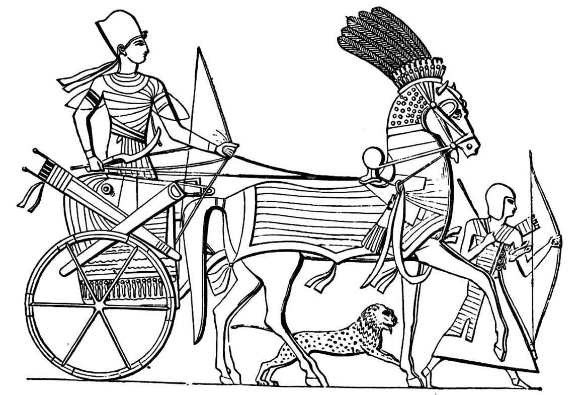 Colorear para adultos : Egipto y Jeroglíficos - 10