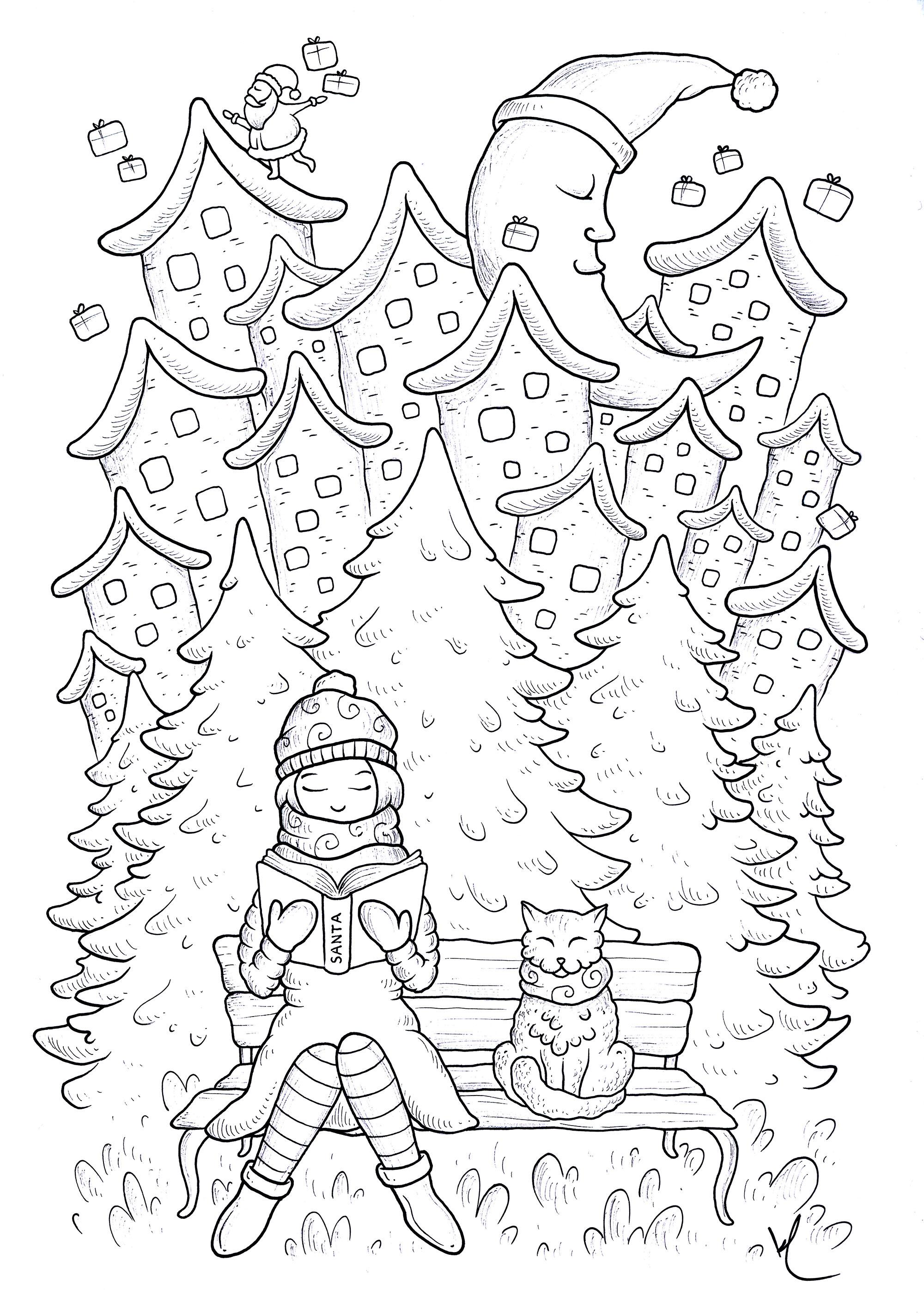 Colorear para adultos : Navidad - 1