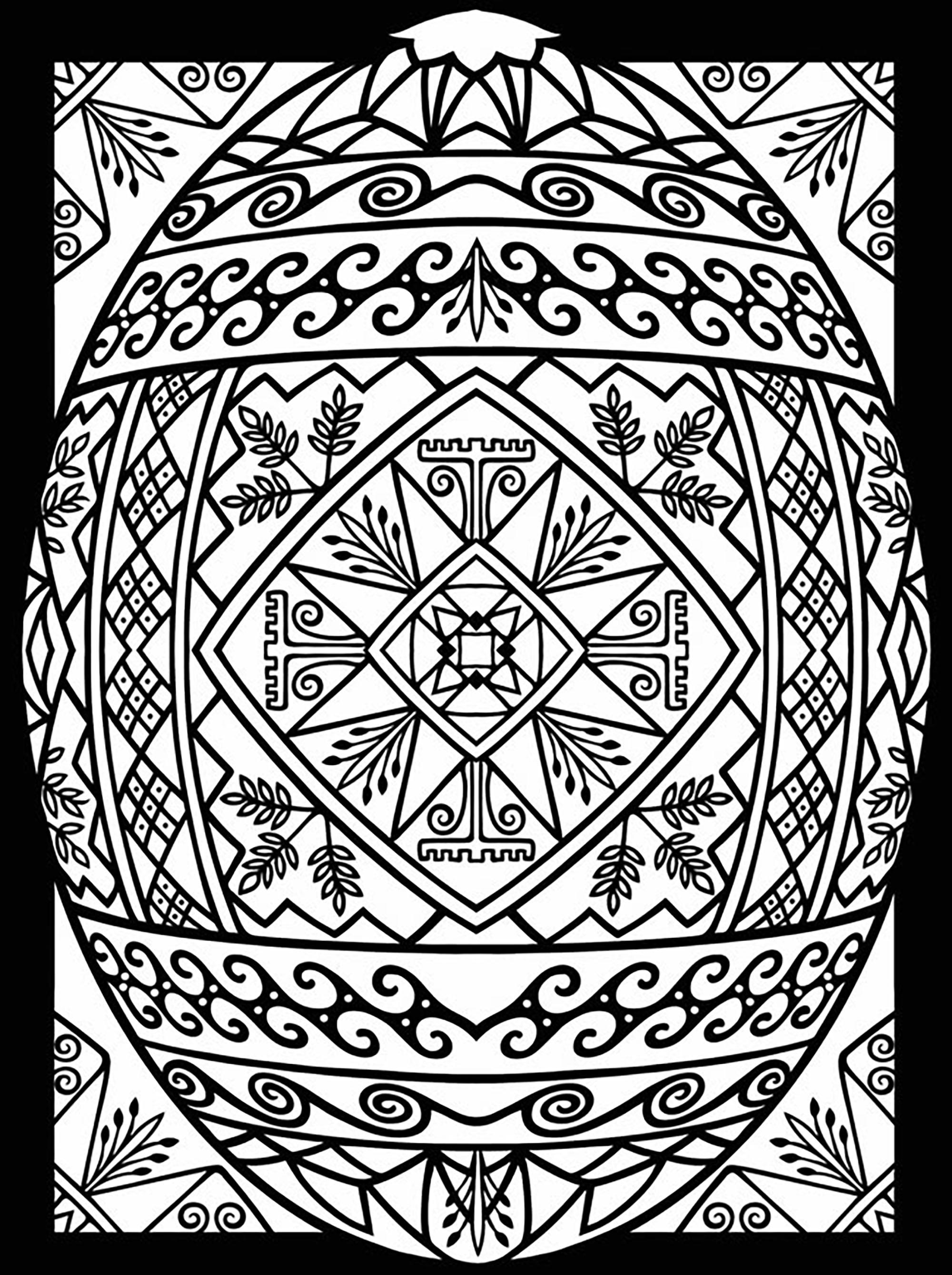 Colorear para adultos : Pascua de Resurrección - 1