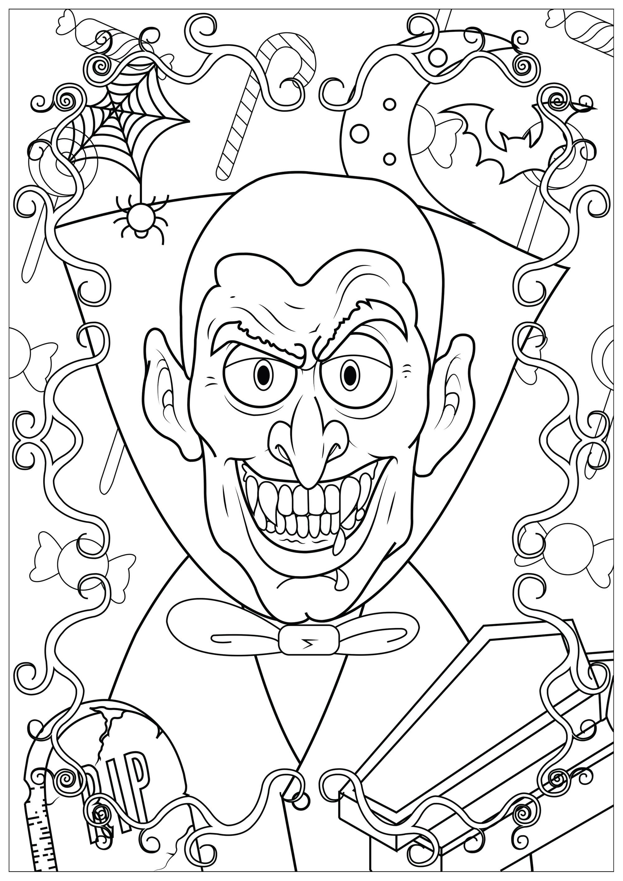 Colorear para Adultos : Halloween - 11