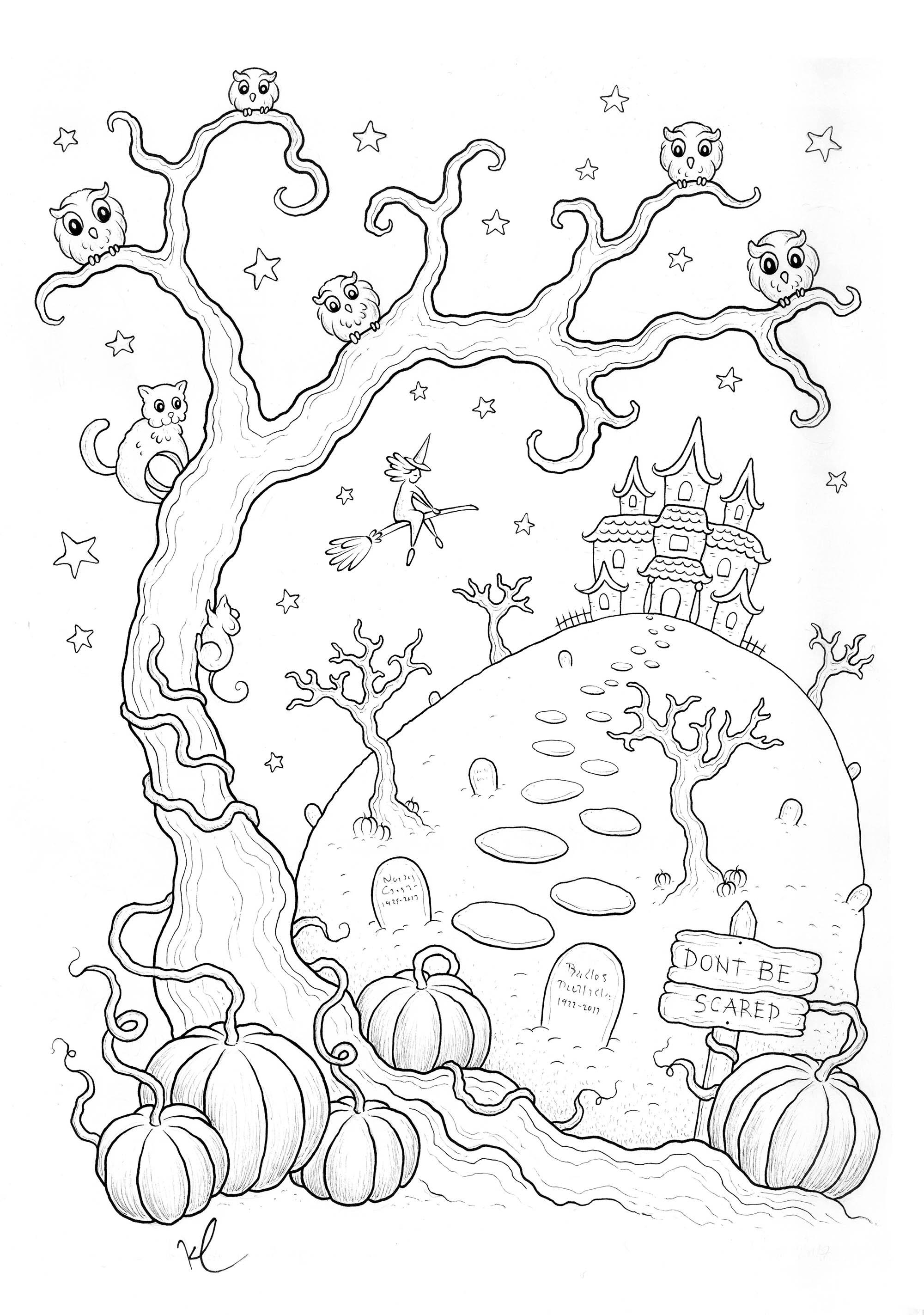 Colorear para adultos : Halloween - 51