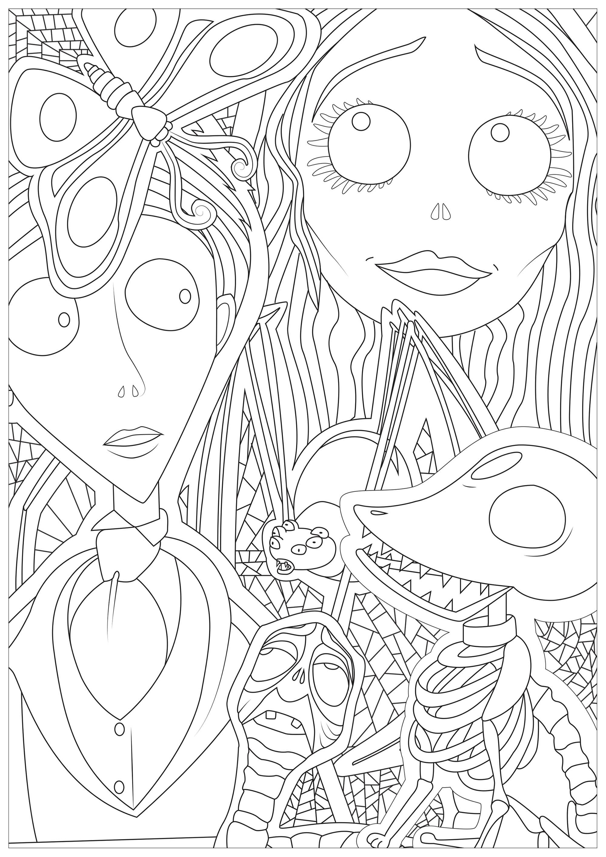 Colorear para Adultos : Halloween - 3
