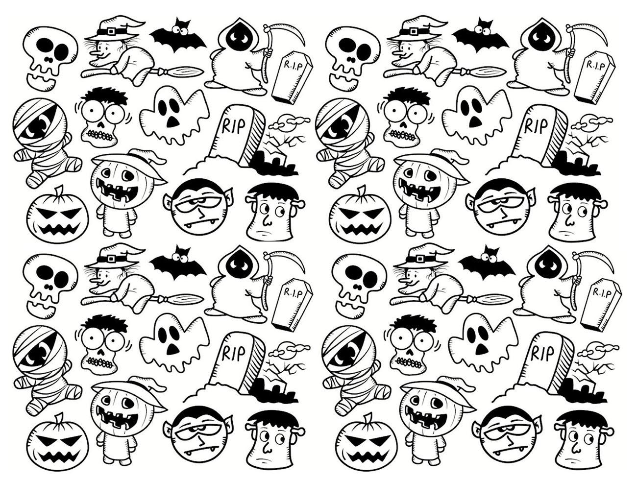 Colorear para adultos : Halloween - 10