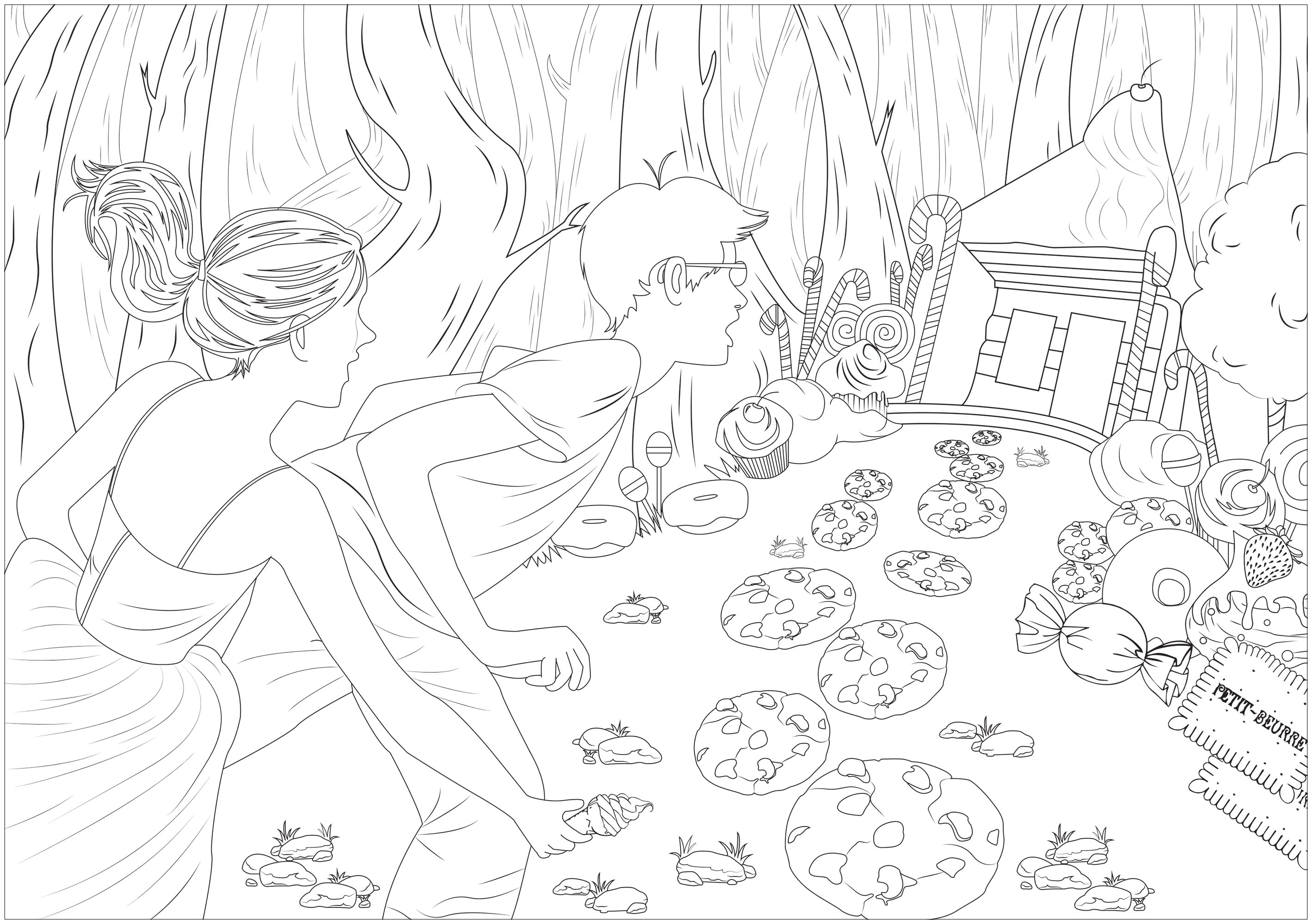 Colorear para Adultos : Fairy tales - 1