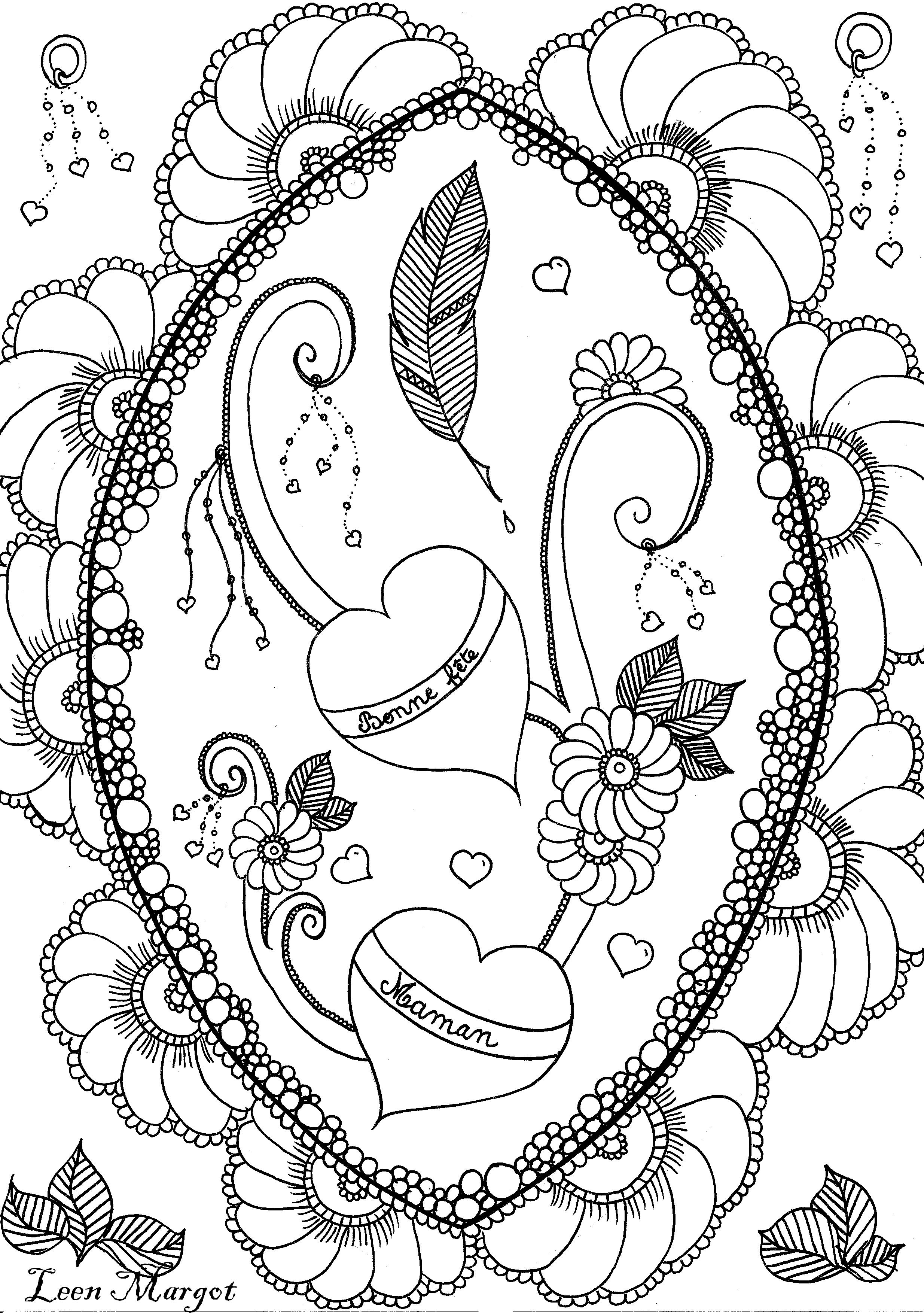 Colorear para adultos : Flores y vegetación - 40