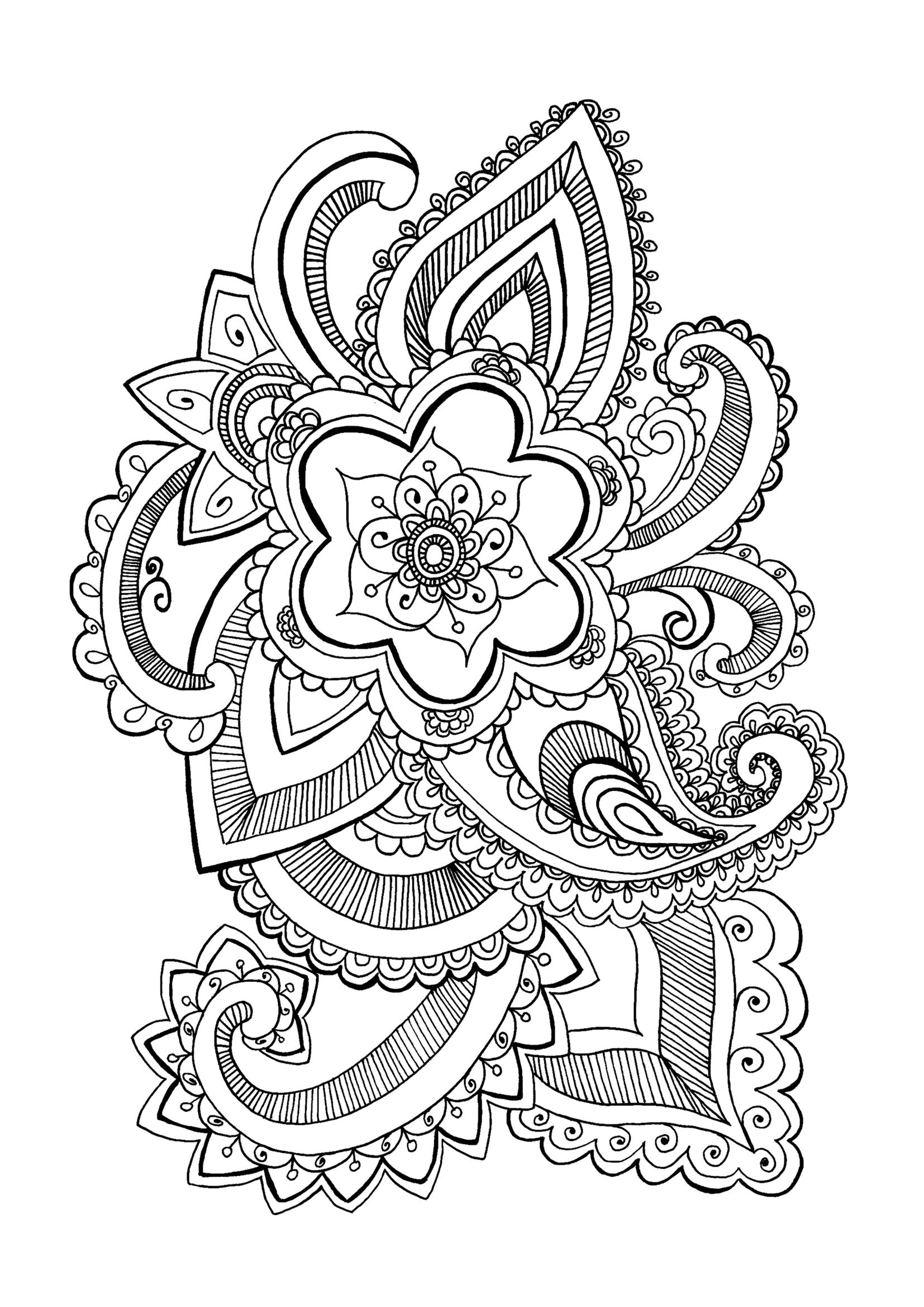 Flores y vegetacion 24246 flores y vegetaci n colorear para adultos - Dibujos originales para pintar ...