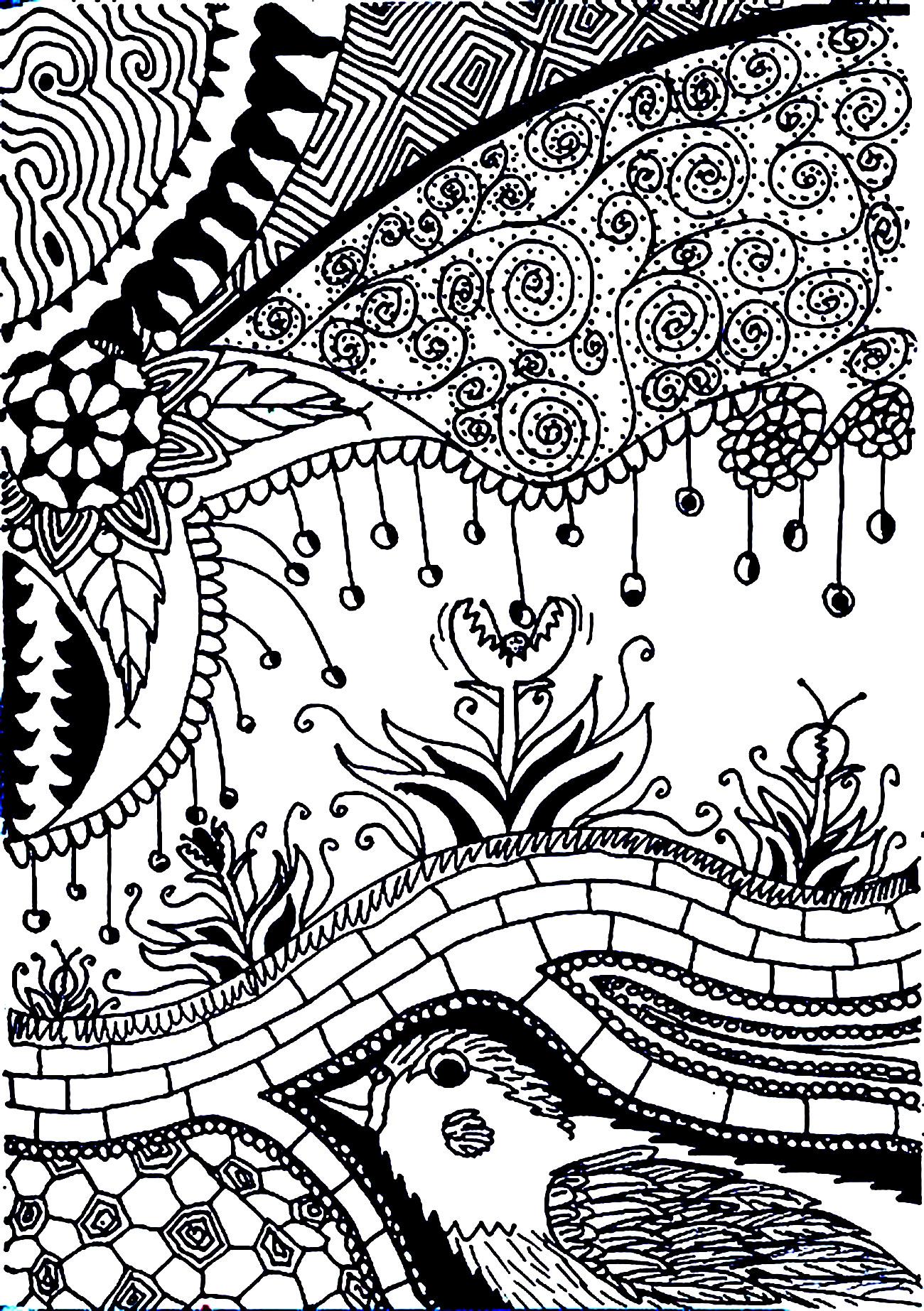 Colorear para adultos : Flores y vegetación - 21
