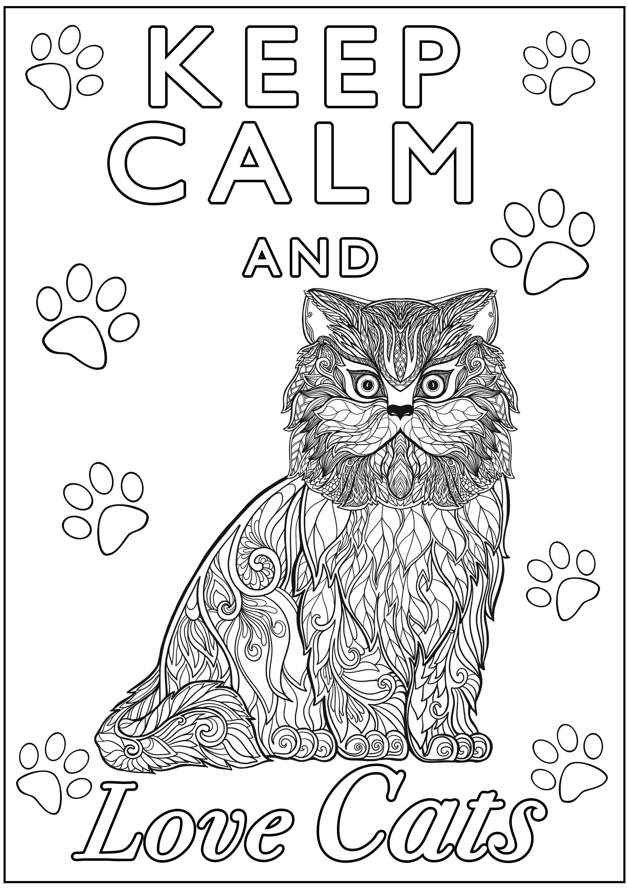Colorear para Adultos : Keep Calm - 1
