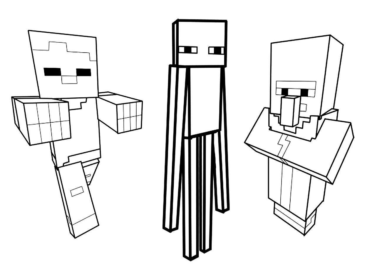 Minecraft Herobrine Para Colorear Y Imagenes De Minecraft: Colorear Para Adultos
